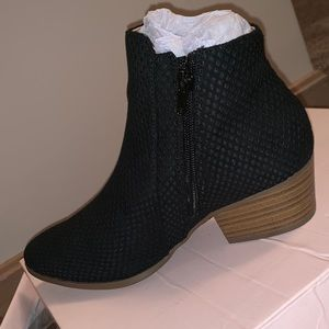 Black booties NWT